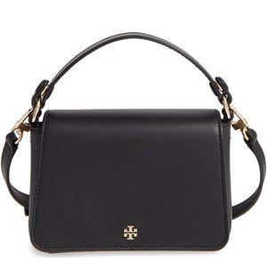 Tory Burch leather micro satchel black NWOT